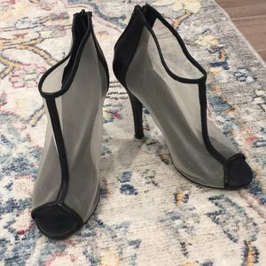 Forever 21 mesh heel ankle boots